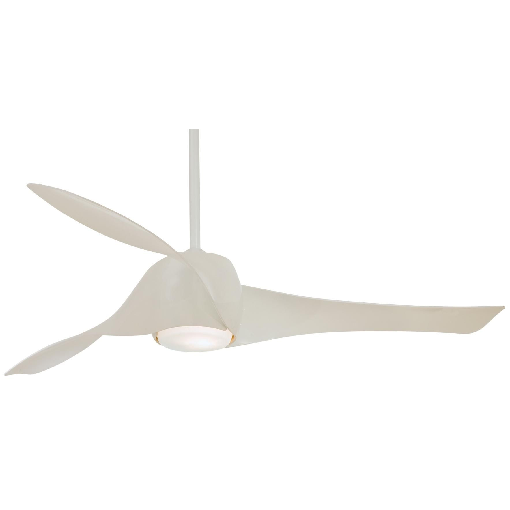 Lit Modern Ceiling Fan 9 High Gloss White 580