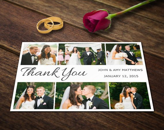 Wedding Thank You Card Template Photoshop by SupremerStudio My