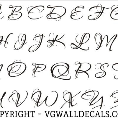 Monogram Wall Decal Single Letter Script Style Inspiration - Monogram wall decals letters
