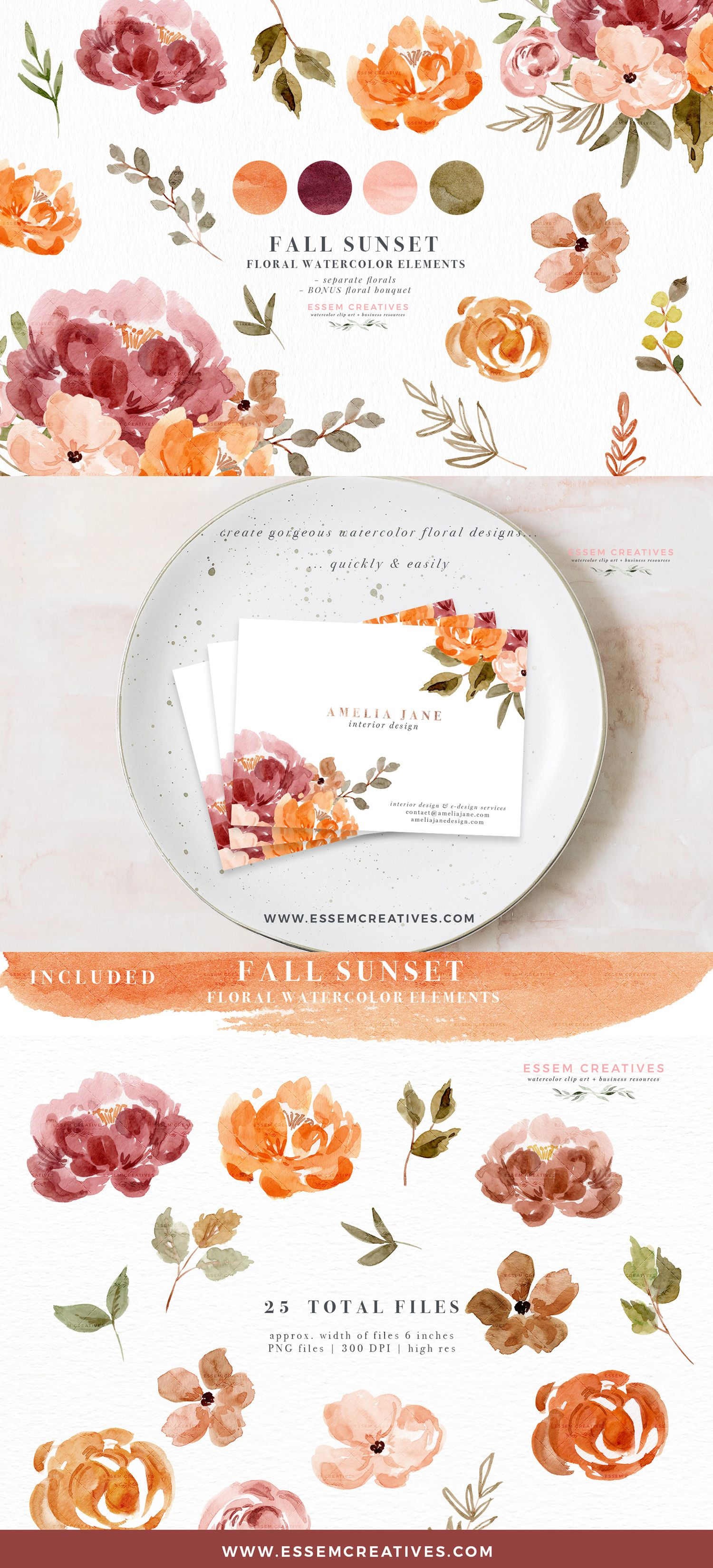 Fresh Autumn Bouquets Wreath Handpainted By Octopusartis