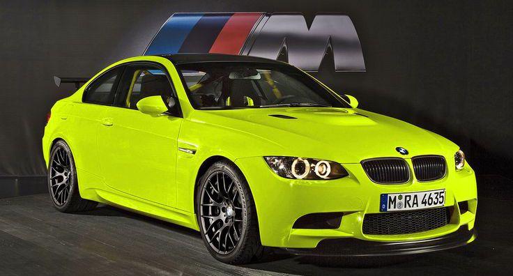 Fluorescent Yellow Neon BMW M3