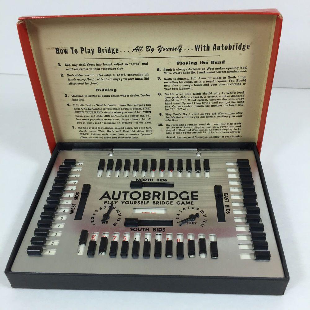 Vintage 1950'S #AutoBridgeGame Deluxe Pocket Model No. PB