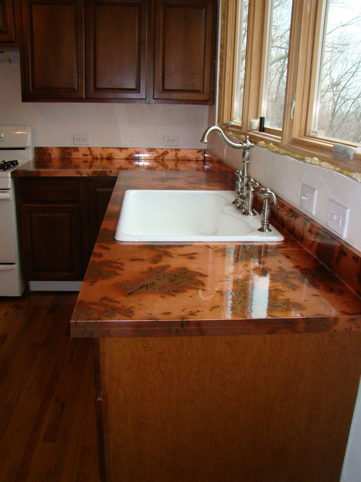 Copper Kitchen Counter Tops | The Kitchen And DIY Copper Countertops |  Gorgeous Countertops | Pinte