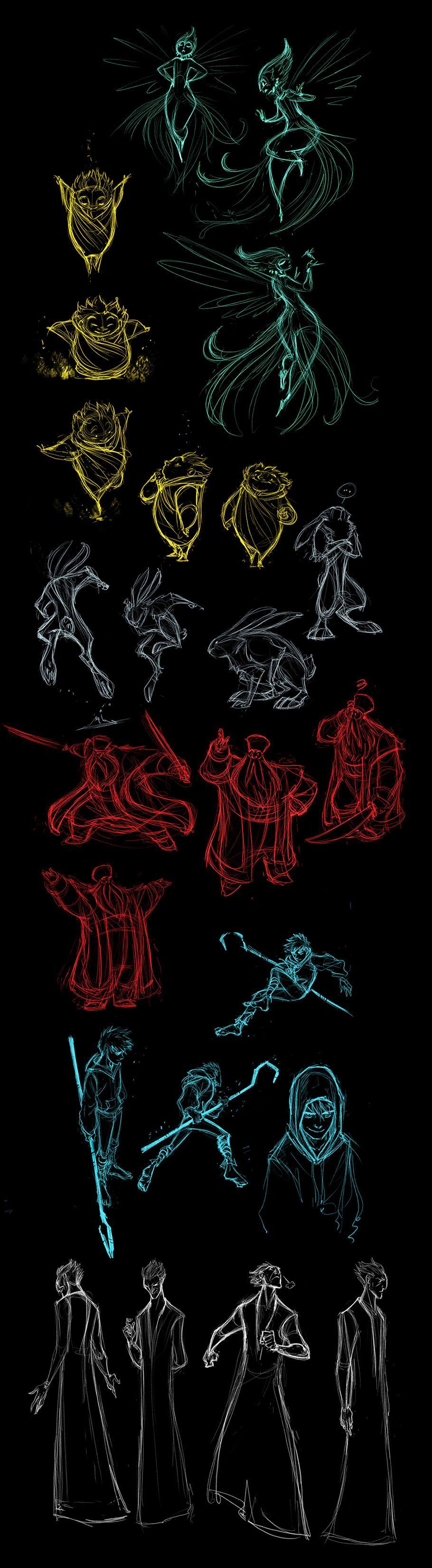 Guardians rough sketches by rufftoon.deviantart.com
