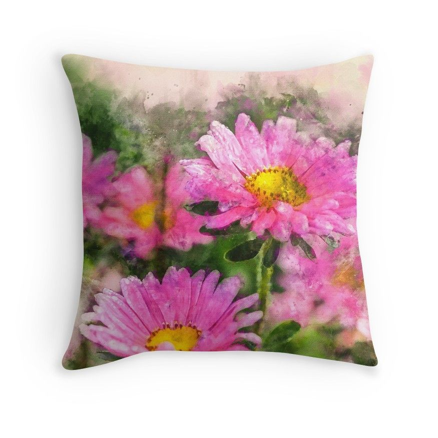 Pink Queen Throwpillow By Creativeaxle Redbubble Floral Watercolor Digitalpainting Throw Pillows Fantastic Art Pink