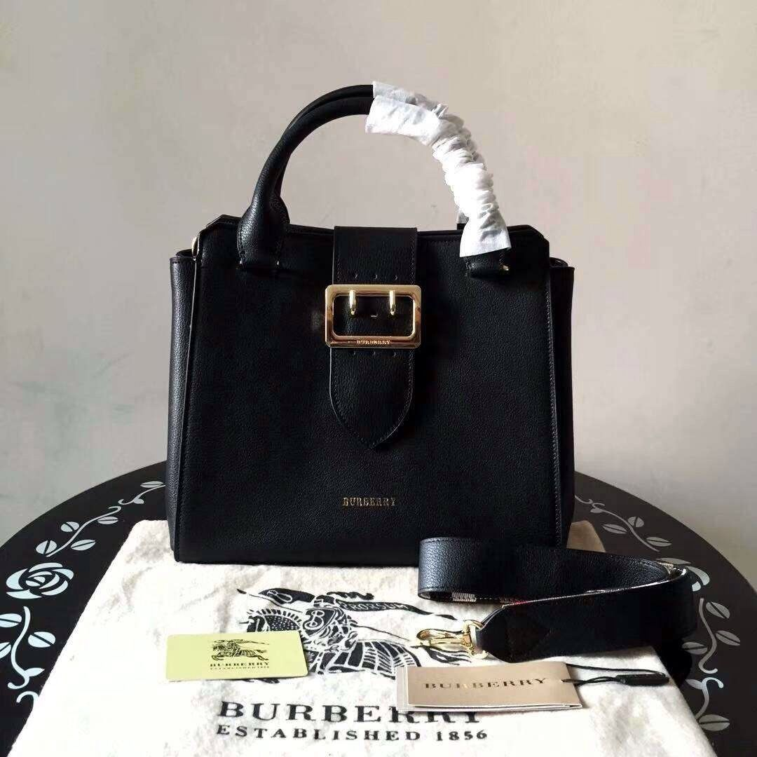 c4fdcda406bb Burberry The Medium Buckle Tote in Grainy Leather Black - Bella Vita Moda   burberry  burberrybag  burberrytote  burberrylover  burberryaddict   baglover ...