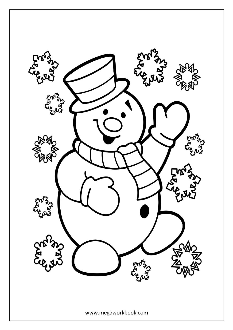 Winter und Schnee Weihnachten Malvorlagen Free