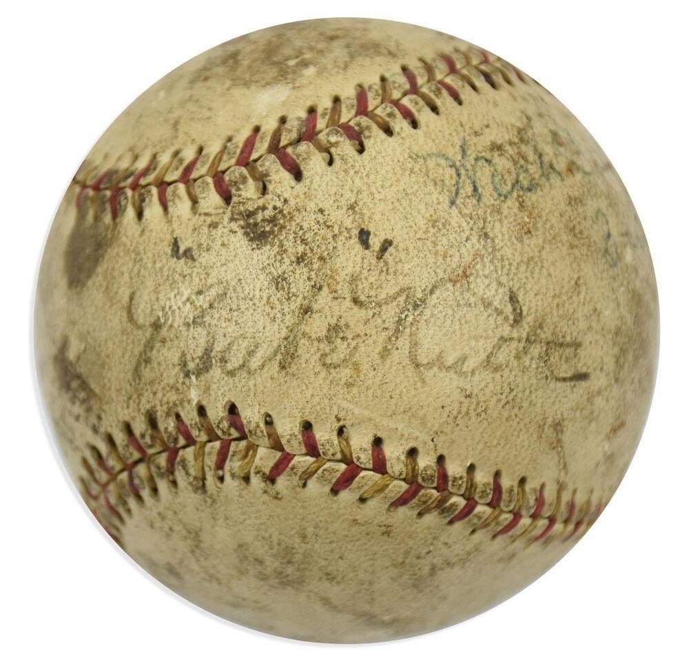 1927 babe ruth single signed autographed baseball