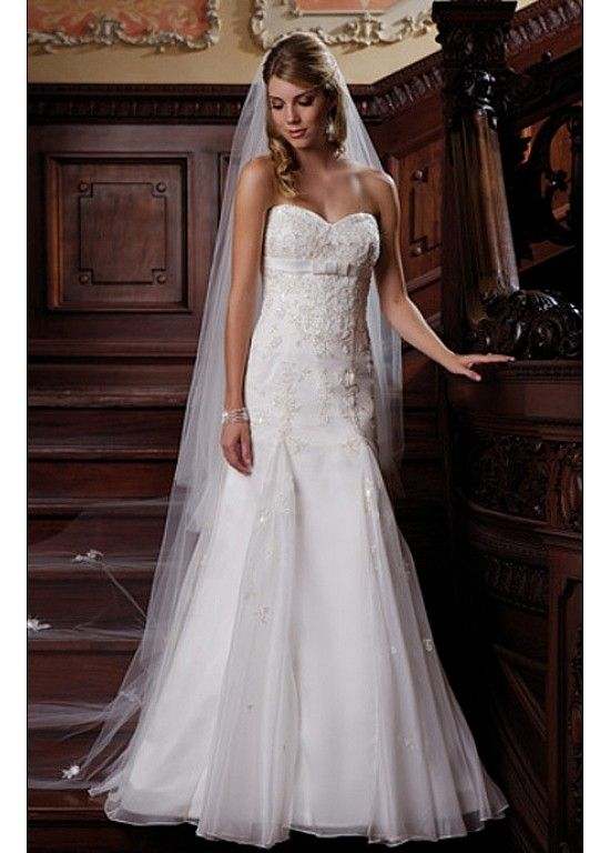 Elegant Exquisite Organza Sheath Sweetheart Wedding Dress In Great Handwork W2137  $357.11