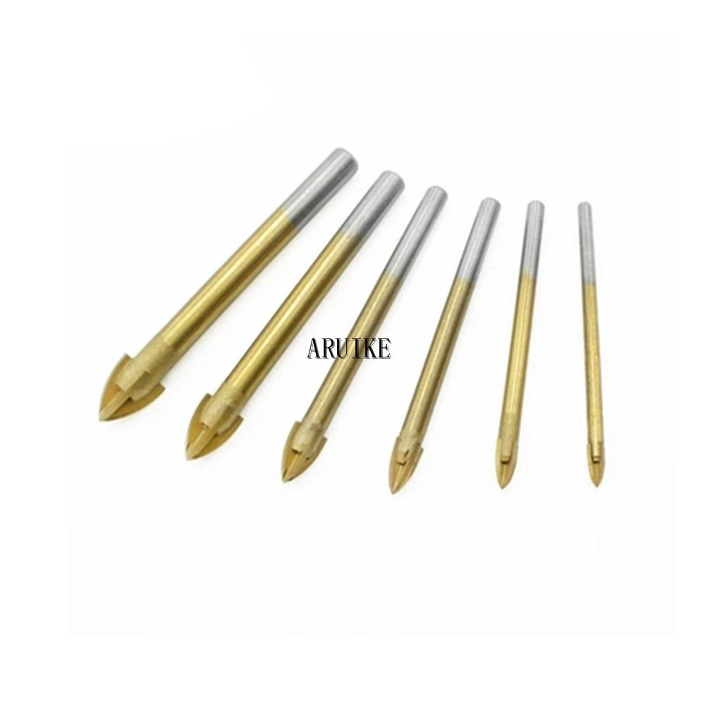 10Pcs 6mm Triangular Ceramic Alloy Drill Glass Marble Tile Cutter Power Tools Drills
