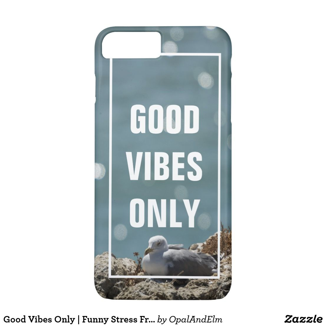 Funny Stress Quotes Good Vibes Only   Funny Stress Free Quote Beach Case-Mate iPhone Case   Zazzle.com