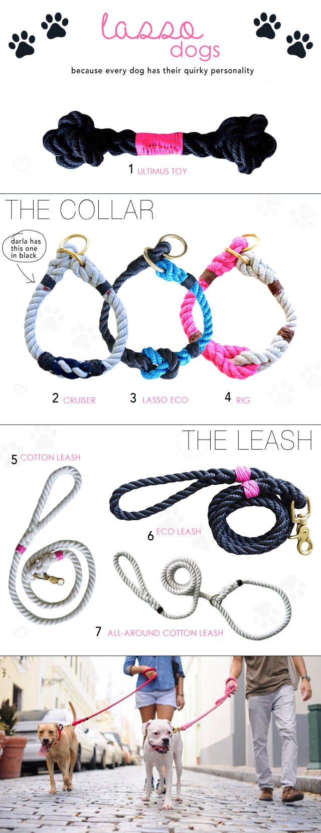 Doggies: lasso dogs -   21 diy dog leash