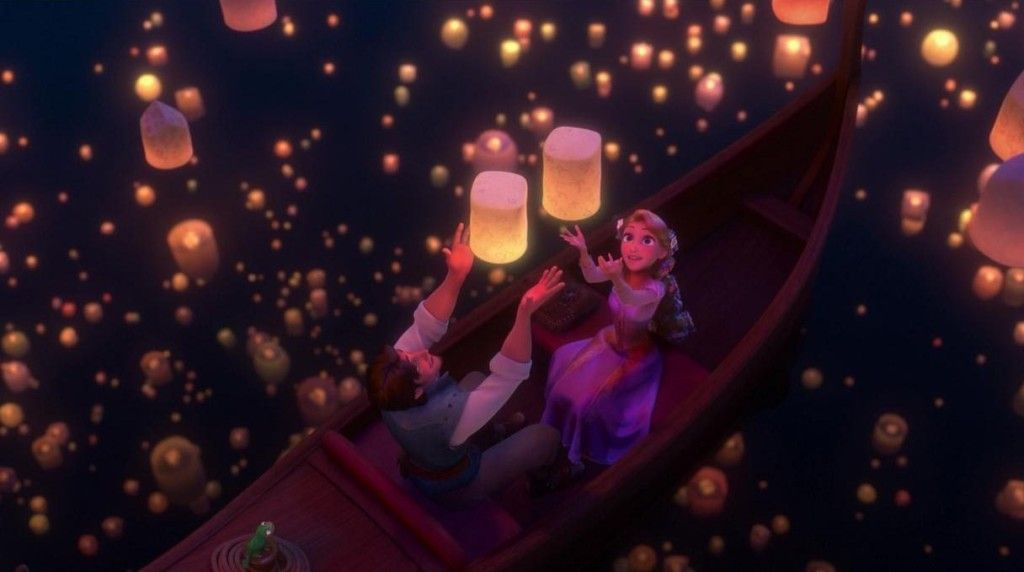 rapunzel and flynn lanterns coloring pages - Google Search