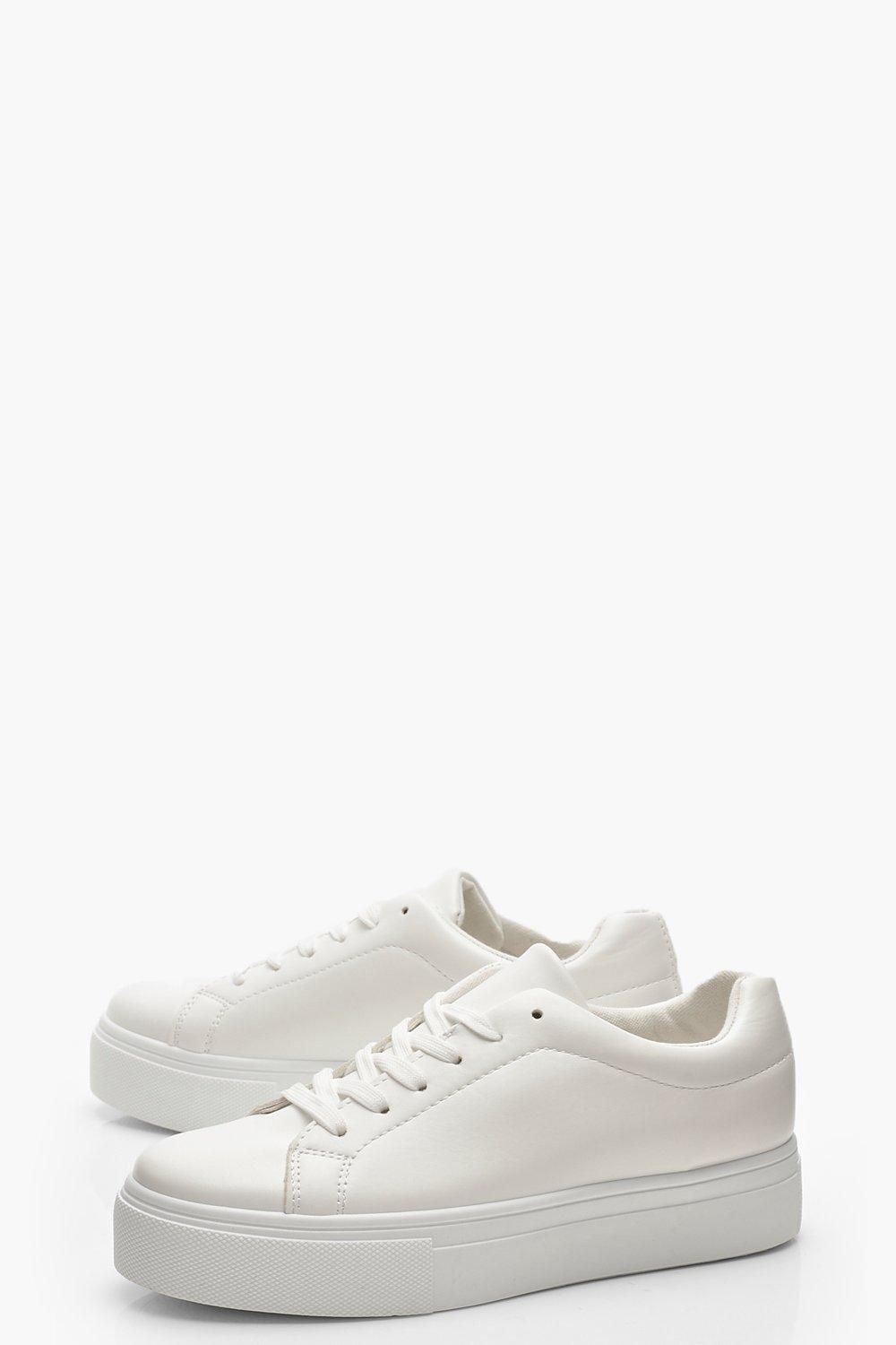 Lace Up Platform Sneakers   boohoo