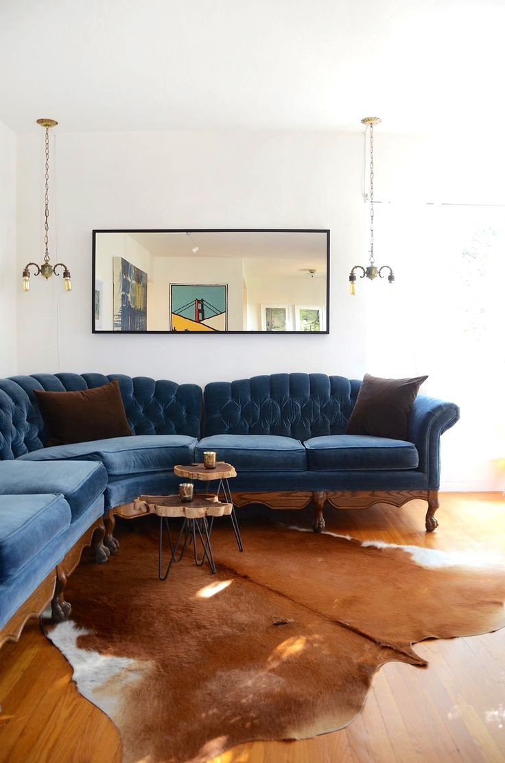 25 Stunning Living Rooms With Blue Velvet Sofas Living Room