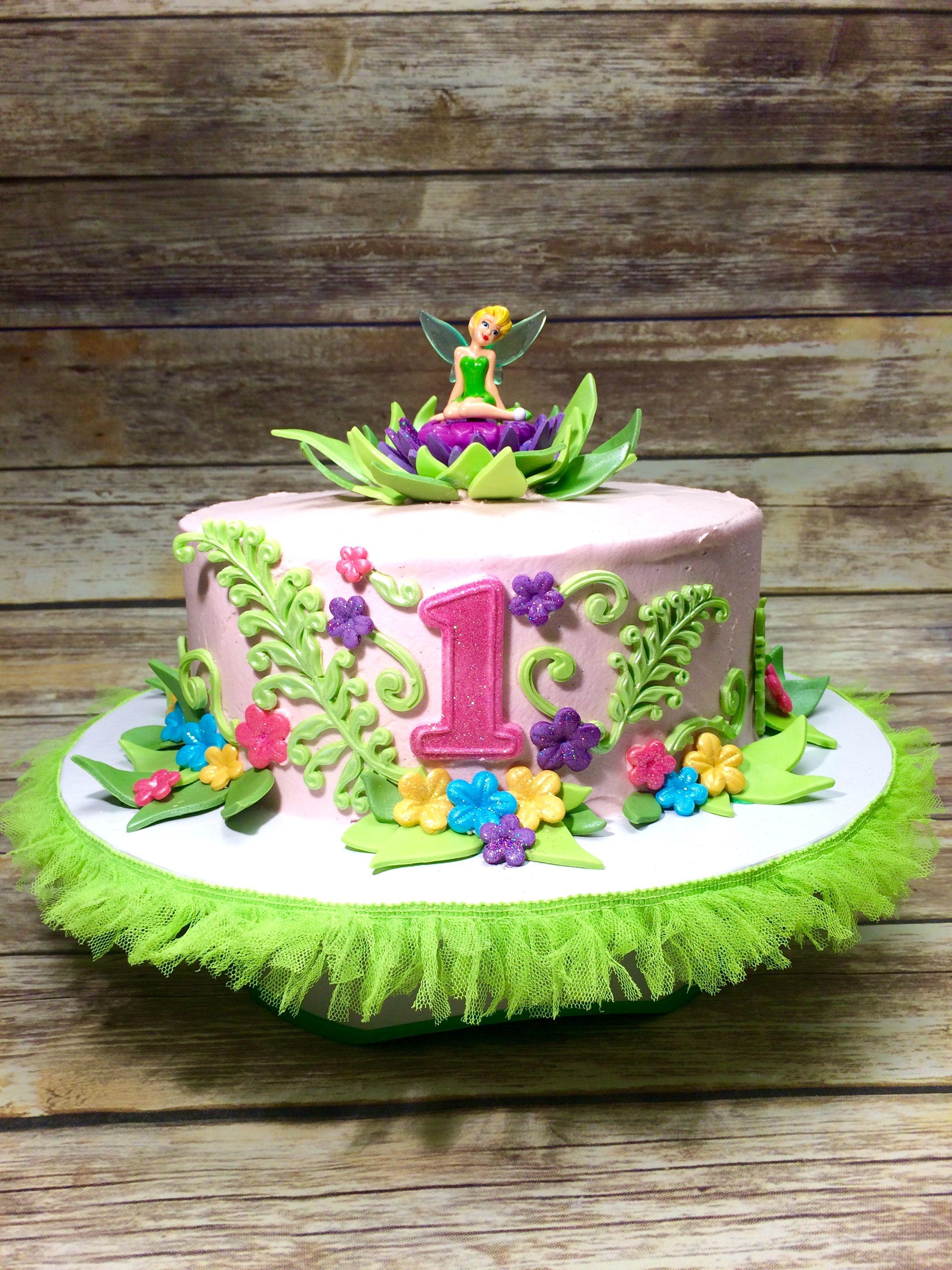 Tinkerbell 1st Birthday Cake Yellow Cake With Vanilla Bean