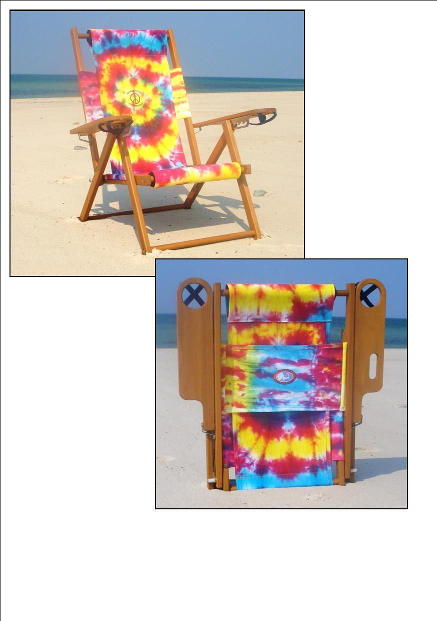 Cape Cod Beach Chair Company Tie Dye Beach Chair