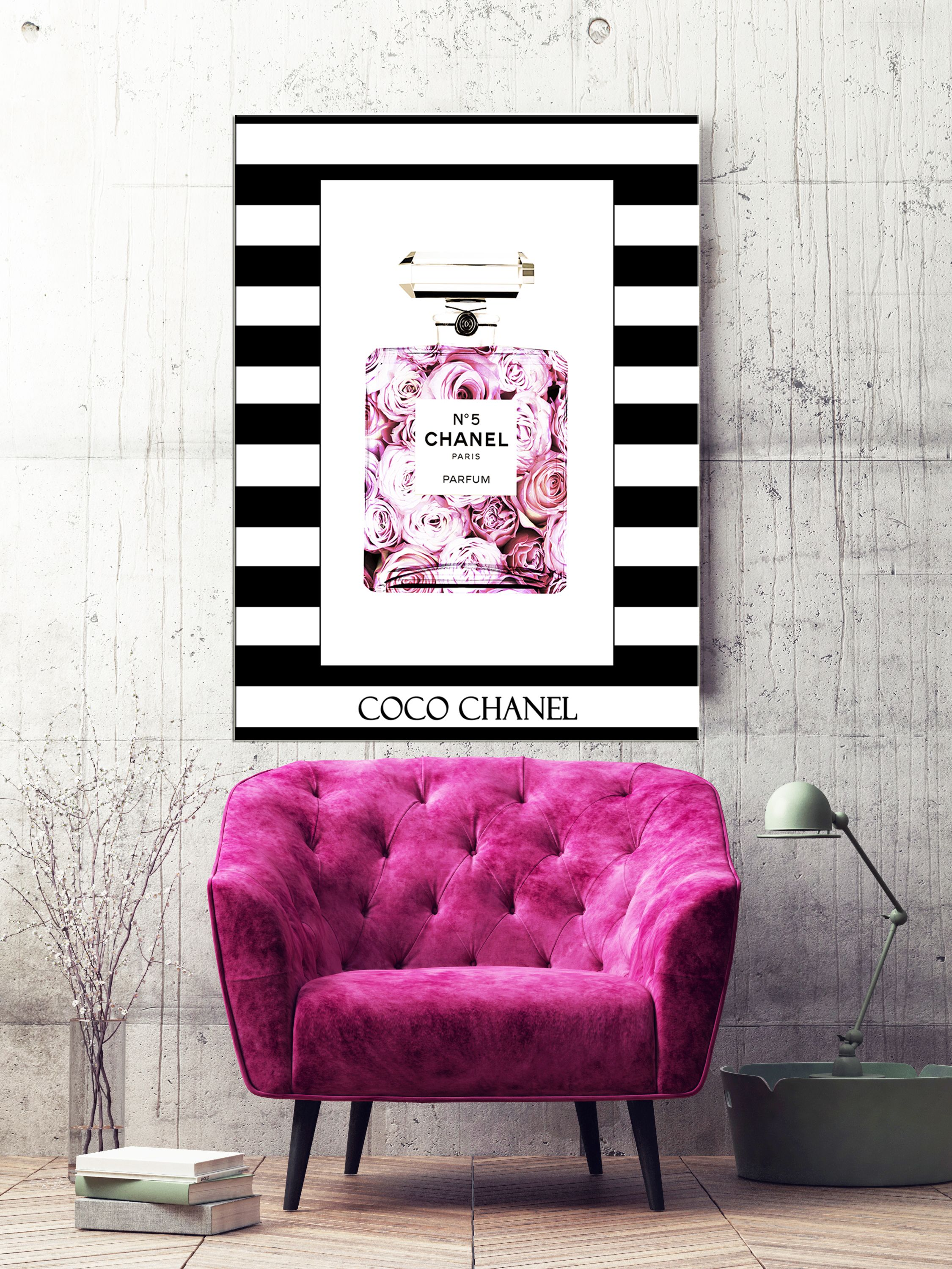 Canvas wall art chanel canvas chanel parfume fashion canvas wall art