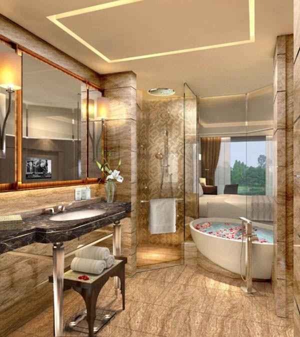 Elegant bathroom at Hotel Interior Design Trends 2012 in New Delhi