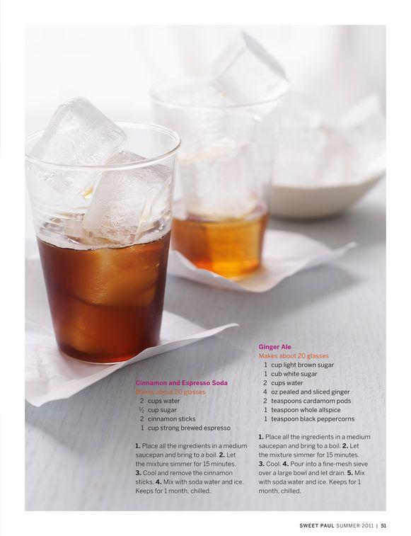 2 Home Made Soda Recipes: Cinnamon & Espresso Soda and Ginger Ale Soda Recipe