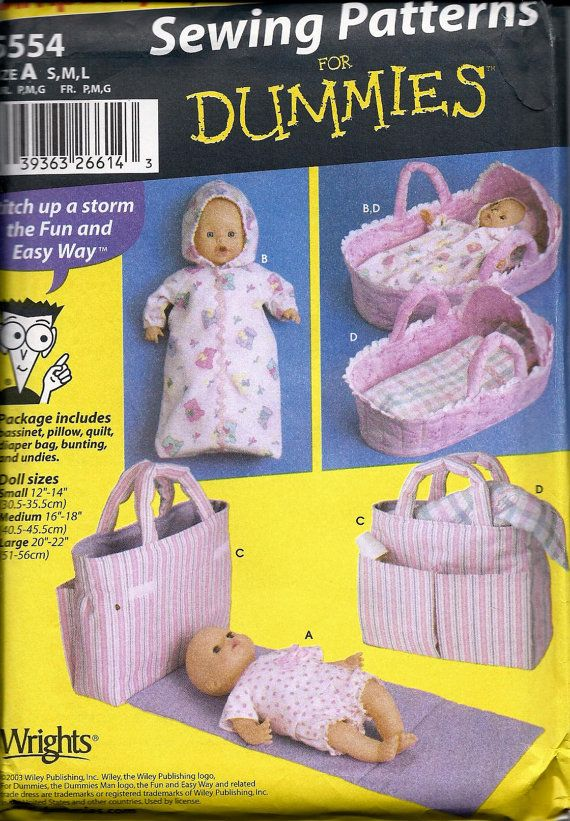Sewing Patterns For Dummies Baby Doll Layette In Three Sizes
