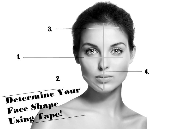 Makeup Tutorials How To Determine Your Face Shape Using Tape