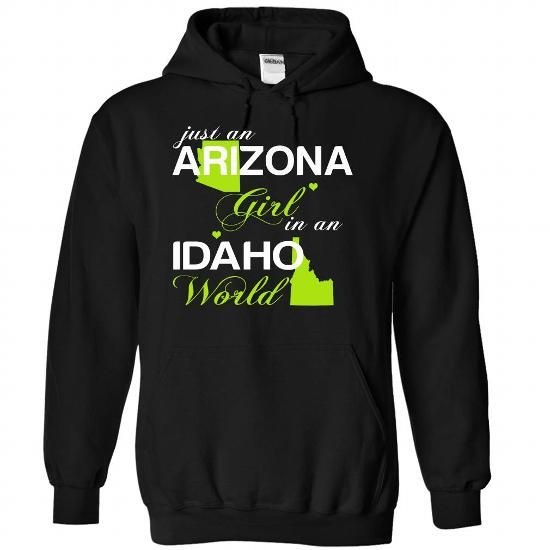 (AZJustXanhChuoi001) Just An Arizona Girl In A Idaho Wo - #gift ideas for him #hoodies/jackets. OBTAIN LOWEST PRICE => https://www.sunfrog.com/Valentines/-28AZJustXanhChuoi001-29-Just-An-Arizona-Girl-In-A-Idaho-World-Black-Hoodie.html?id=60505