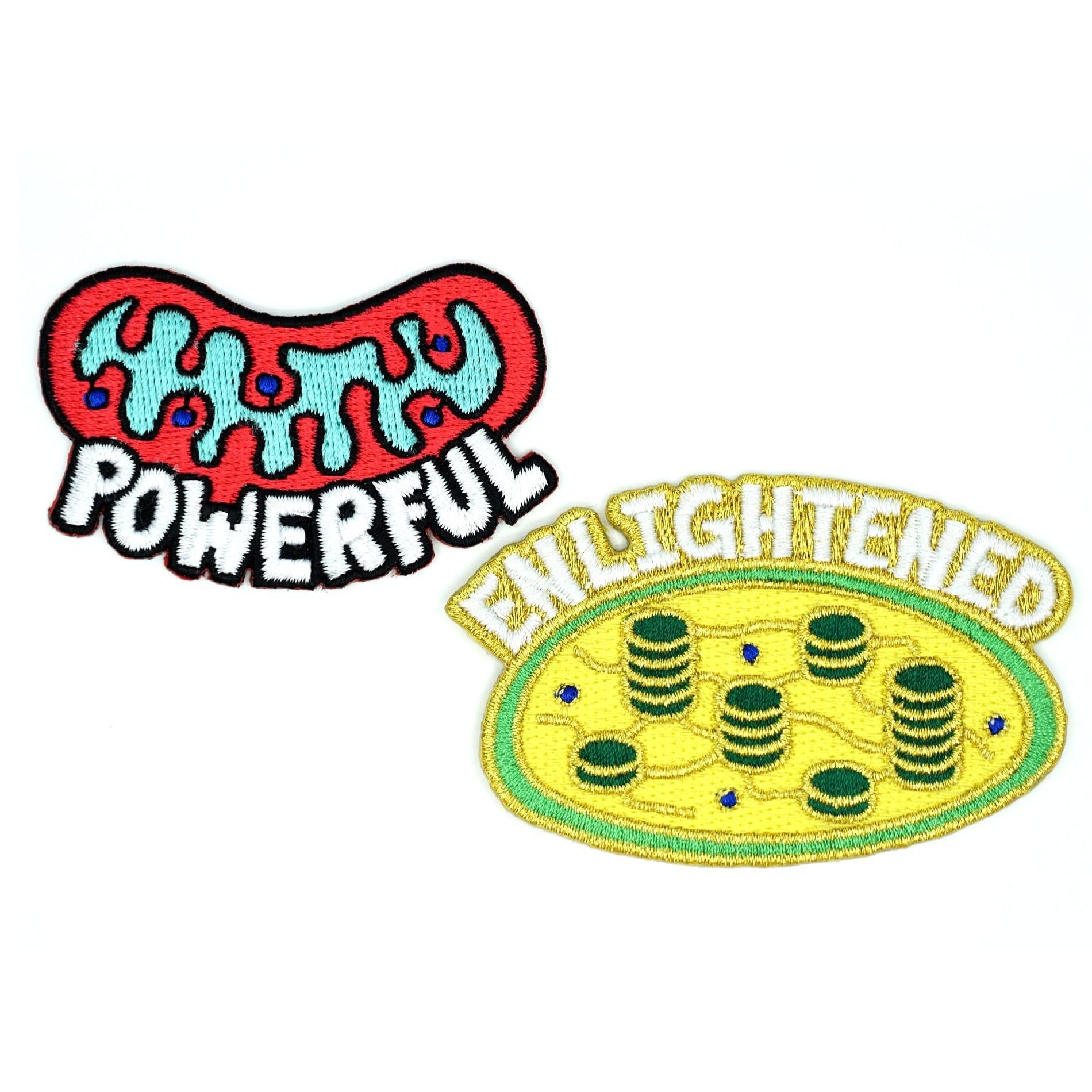 Cellular Organelle Patches Chloroplast & Mitochondria