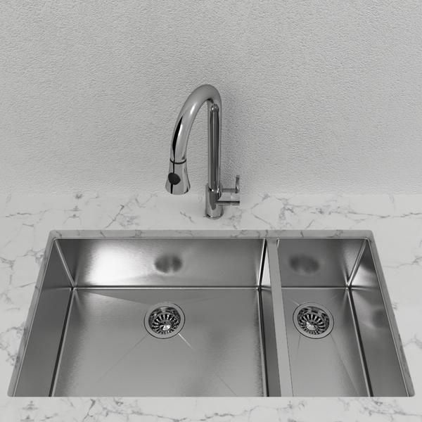 Cantrio Double Bowl Stainless Steel Undermount Kitchen Sink With