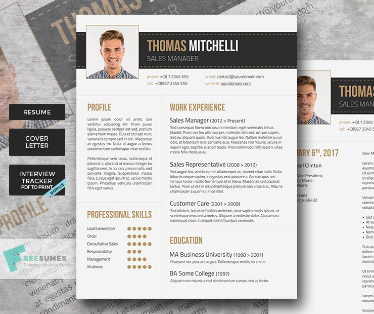 Premium Resume Package - Earthy Tones | Earthy, Free cover letter ...