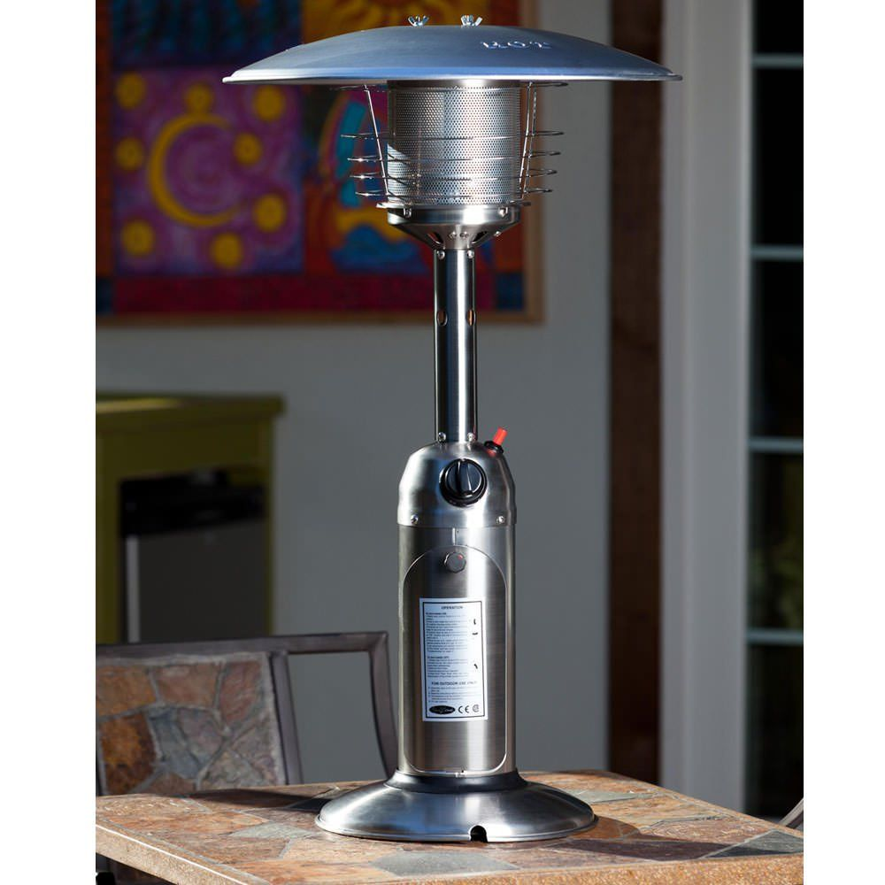 Stainless Steel Table Top Patio Heater Provides Warmth While Adding Ambience To Any Outdoor Table Patio Heater Stainless Steel Table Top Stainless Steel Table