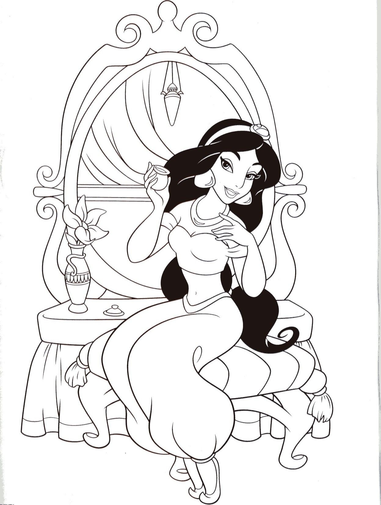 jasmine coloring pages pinterest jasmine disney colors and