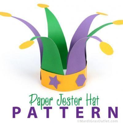 Mardi Gras Jester Hat  Kids Crafts   f2b644c371b
