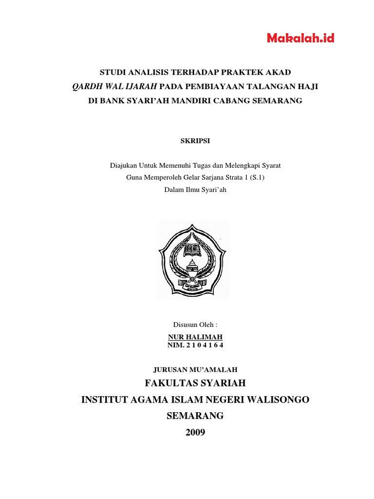 Makalah Id Seperti Apa Sih Judul Skripsi Ekonomi Islam Kualitatif Dan Kuantitatif Terbaik Yang Bisa Anda Gunakan Sebenarnya Islam Sarjana Universitas Negeri