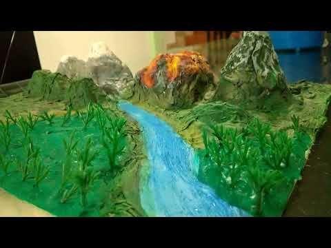 Cómo Hacer Maqueta Del Relieve Y Ecosistemas Proyecto Escolar En Porcelana Fría Plastilina Maquetas De Ecosistemas Maquetas De Volcanes Maqueta De Relieve