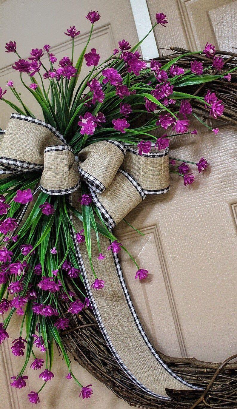 Photo of Spring Wreaths, Farmhouse Wreath, Country, Rustic, Year Round Wreath, Etsy Wreaths, Housewarming Gift, Greenery Wreaths, Birthday Gift