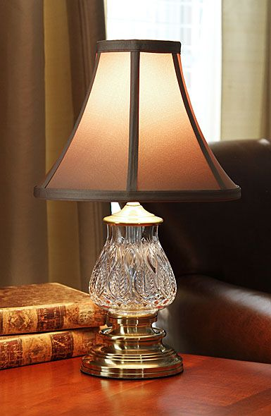Waterford Crystal Blue Bell Mini 16 Accent Crystal Lamp Crystal Lamp Lamp Mini Table Lamps