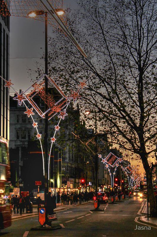Christmas Lights On Oxford Street London By Jasna London Christmas Christmas In England Christmas Lights