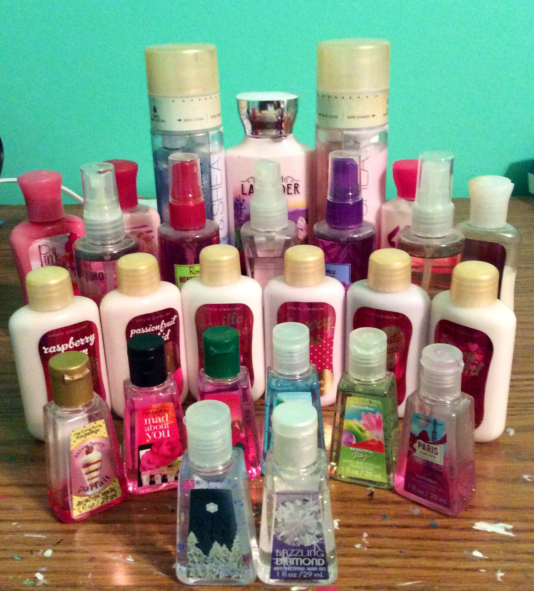 All Of The Lotions Hands Sanitizers Perfumes Etc Bought At