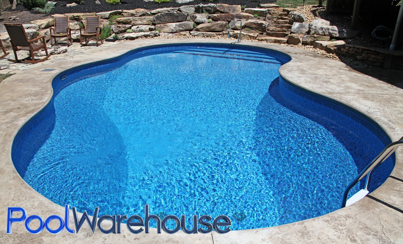 Inground Swimming Pool Kit from Pool Warehouse constructed in ...