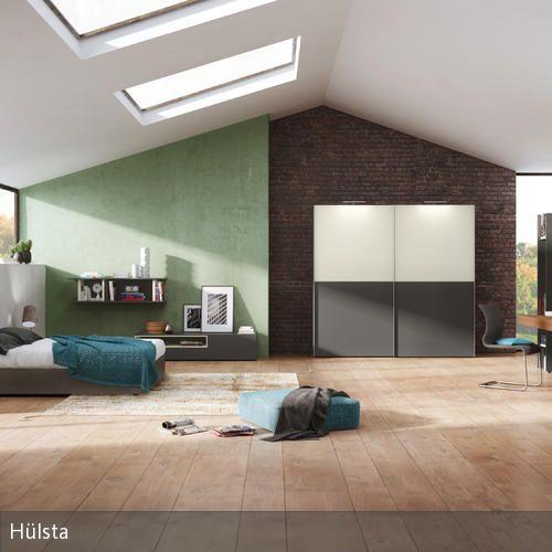 Deckenfenster in der Dachschräge Modern and Wands - schlafzimmer von hülsta