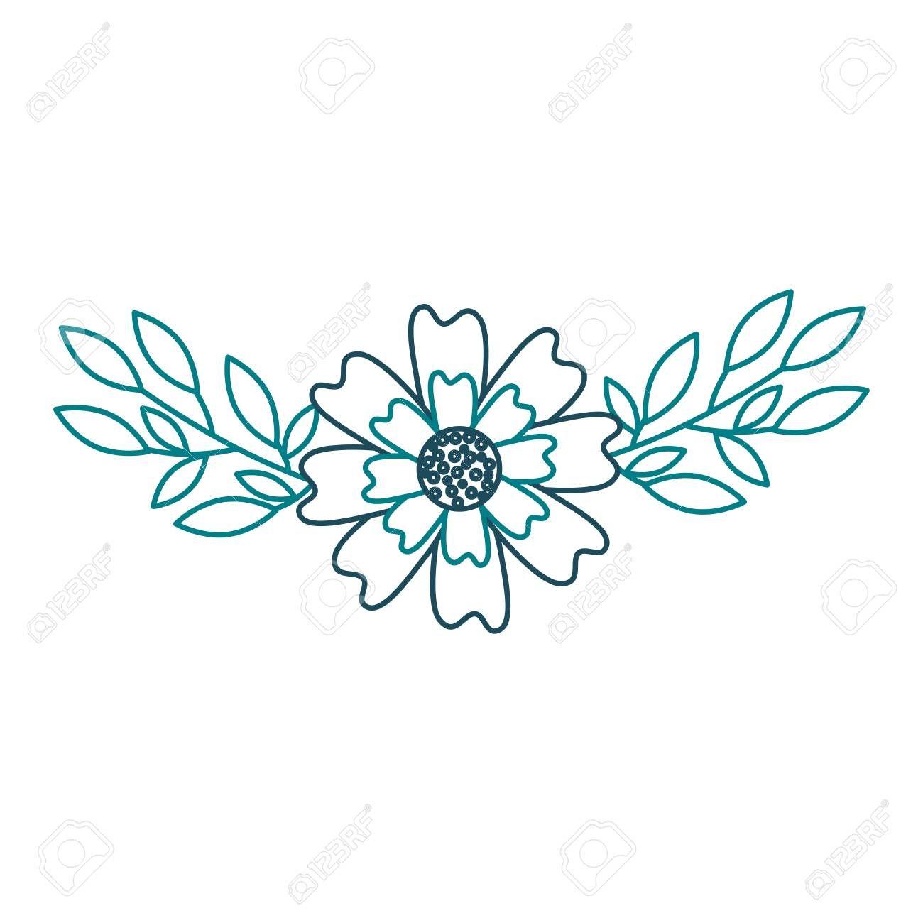 An Aster Flower Leaves Natural Petal Decoration Image Vector Illustration Illustration Affiliate Natural Petal In 2020 Lotus Flower Tattoo Flower Tattoo Flowers