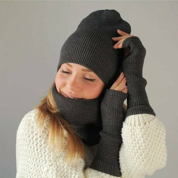 11a8761a1 One size 42 colours knit beanie Knitted winter cute cap Knitted ...