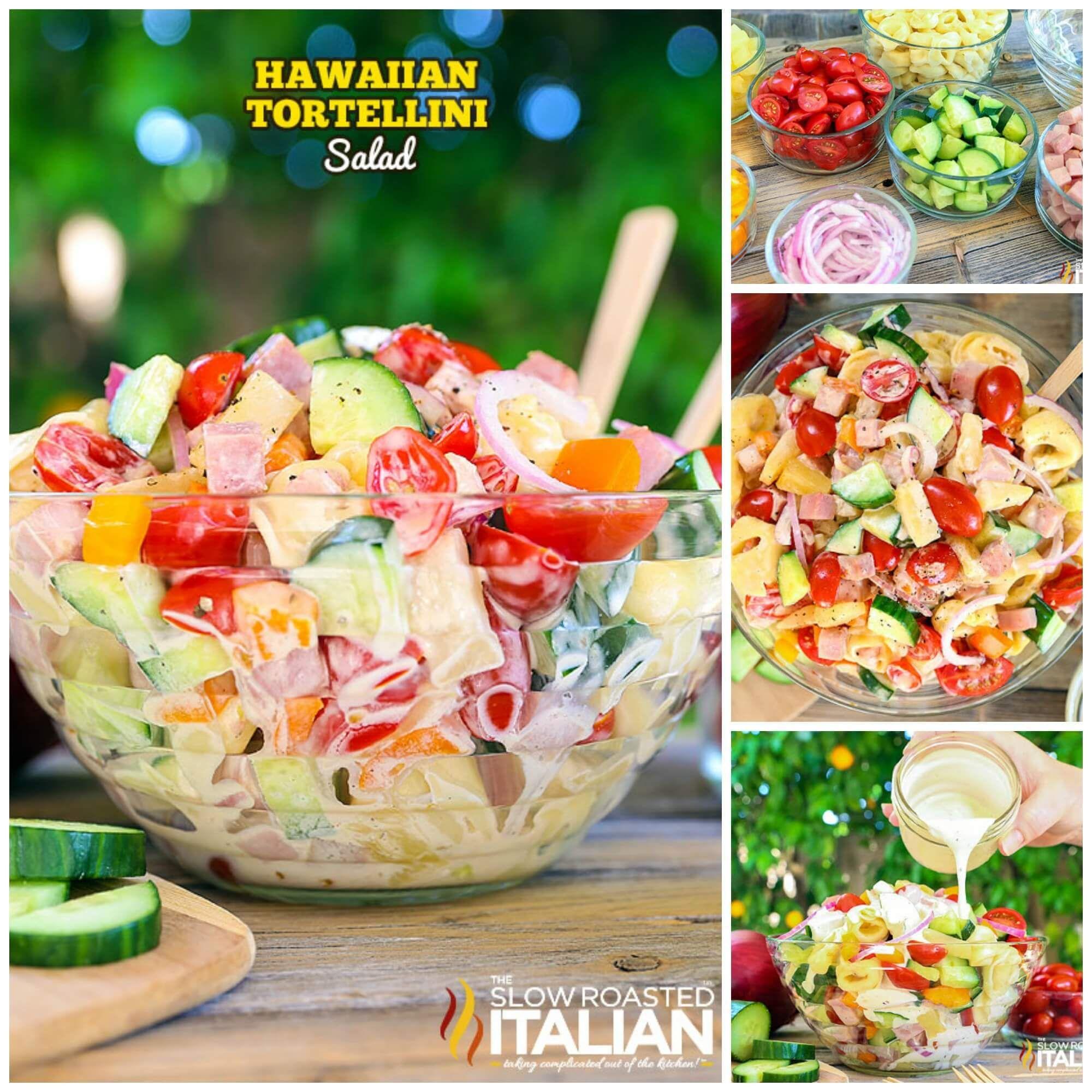 Hawaiian Tortellini Salad #hawaiianfoodrecipes