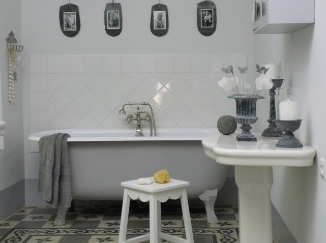 white and grey | For the love of the bath | Pinterest | Bath room ...