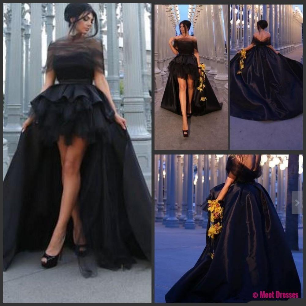 Prom dress black prom dress short front long back prom dress a