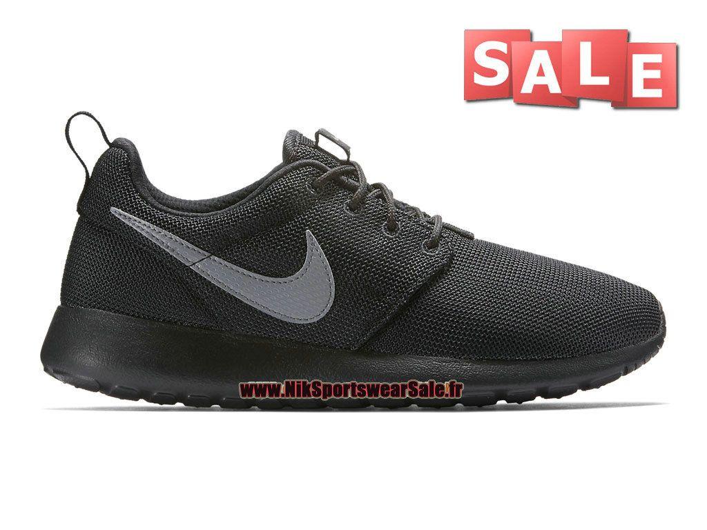 brand new abe53 48add Nike Roshe Run One - Chaussure de Nike Sportswear Sale Pour Homme Noir  Argent