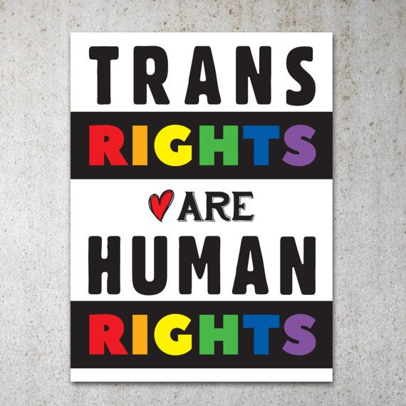 picture relating to Printable Protest Signs known as Trans Legal rights Are Human Legal rights PRINTABLE Protest Poster