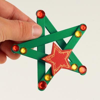 Etoiles de Noël - Noël - 10 Doigts #deconoelmaternelle