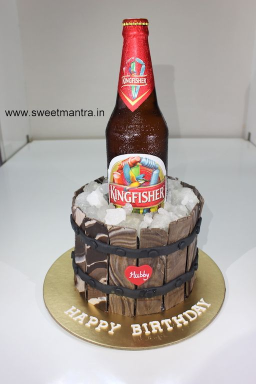 Kingfisher Beer Bottle Theme Customized 3d Designer Fondant Birthday